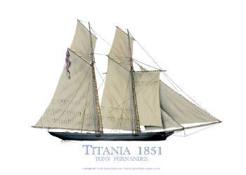 1851 Titania - signed print